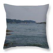 Sailboat Heaven Throw Pillow