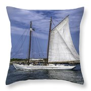 Sailboat In Cape May Channel Throw Pillow