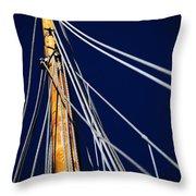 Sailboat Lines Throw Pillow