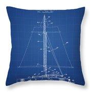 Sailboat Patent From 1932 - Blueprint Throw Pillow