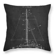 Sailboat Patent From 1932 - Dark Throw Pillow