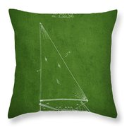 Sailboat Patent From 1991- Green Throw Pillow