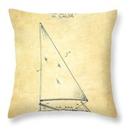 Sailboat Patent From 1991- Vintage Throw Pillow