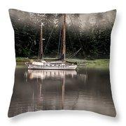 Sailboat Reflection Throw Pillow