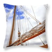 Sailboat Rigging Throw Pillow