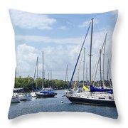 Sailboat Series 05 Throw Pillow