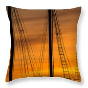 Sailboat Sunrise Throw Pillow