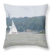 Sailboats At White Rock Lake Throw Pillow