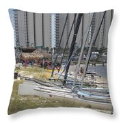 Sailboats For Playtime Throw Pillow