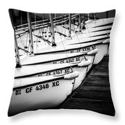 Sailboats In Newport Beach California Picture Throw Pillow