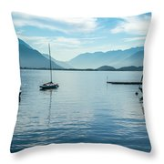 Sailboats On Como Throw Pillow