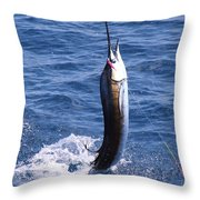 Sailfish On Fly Throw Pillow