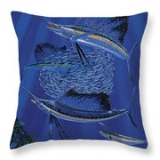 Sailfish Round Up Off0060 Throw Pillow