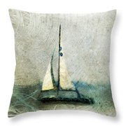 Sailin' With Sally Starr Throw Pillow by Trish Tritz