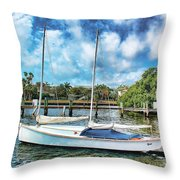 Sailboat Series 01 Throw Pillow