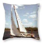 Sailing 1 Throw Pillow
