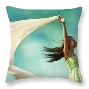 Sailing A Favorable Wind Throw Pillow by Laura Fasulo