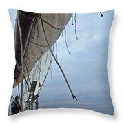 Sailing A Skipjack Throw Pillow