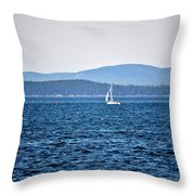 Sailing Amidst The Buoys Throw Pillow