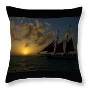 Sailing At Dusk Throw Pillow