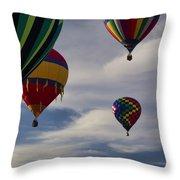 Sailing At First Light Throw Pillow