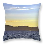 Sailing At Sunset - Lake Tahoe Throw Pillow