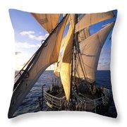 Sailing Boats Kruzenshtern Throw Pillow by Anonymous