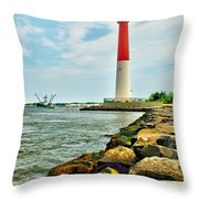 Sailing By Barnegat Light Throw Pillow