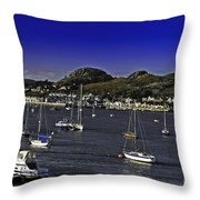 Sailing Conwy Harbor Throw Pillow