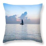 Sailing Daybreak Throw Pillow