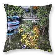 Sailing Down The River Throw Pillow