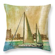 Sailing Dreams On A Summer Day Throw Pillow