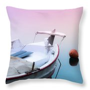 Sailing In A Sea Of Colors  Throw Pillow