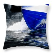Sailing In Blue Throw Pillow