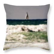 Sailing In California Throw Pillow