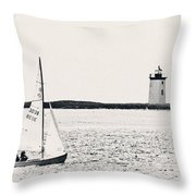 Sailing In Cape Cod Throw Pillow