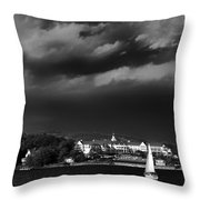 Sailing In Front Of The Sagamore Throw Pillow