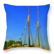 Sailing In Maine Throw Pillow