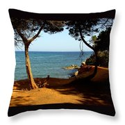 Sailing In Solitude Throw Pillow