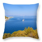 Sailing In The Adriatic Throw Pillow