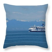 Sailing In The Summer Throw Pillow