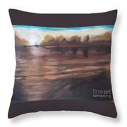 Sailing In To The Sunset Throw Pillow