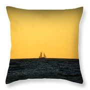 Sailing In Venice Throw Pillow