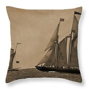 Sailing Into The Past Throw Pillow