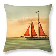 Sailing Into The Sun Throw Pillow