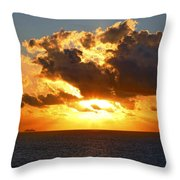 Sailing Into The Sunrise Throw Pillow