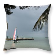 Sailing Key Largo Throw Pillow
