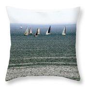Sailing On Lake Erie Throw Pillow