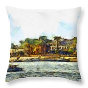 Sailing On The Nile Throw Pillow