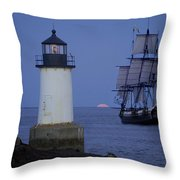 Sailing Out For The Red Moon Throw Pillow